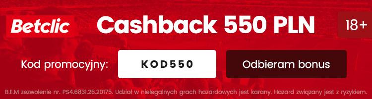 betclic polska bonus cashback 2020